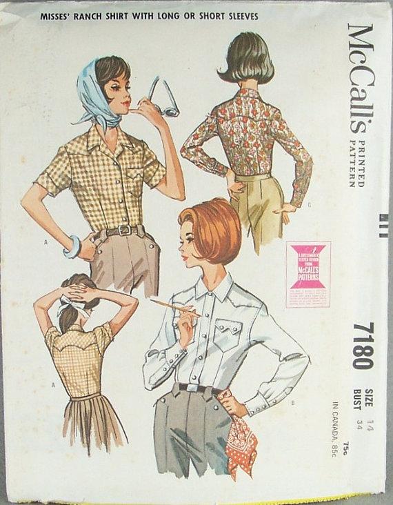fd0b0526b54 1960s women's shirt pattern   Dandy & Rose