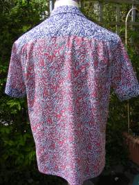 1950s shirt in Liberty 'Lagos Laurel'