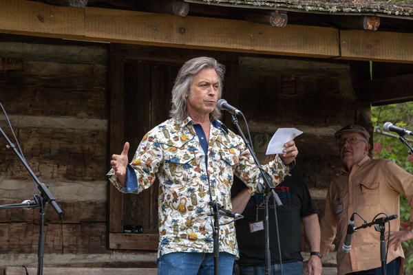 Jim Lauderdale announcing the winners of the Chris Austin Songwriting Contest Jim Lauderdale at Merlefest 2013. Photo by Matt Bonham