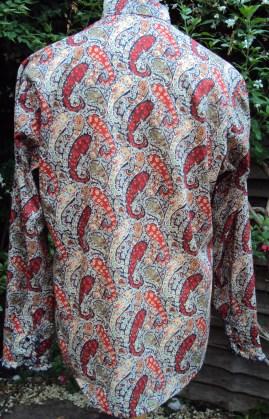 Man's ruffled shirt in Liberty of London's classic paisley 'Bourton'