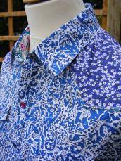 Reed's mixed print shirt in Liberty's 'Lagos Laurel', 'Mitsi'