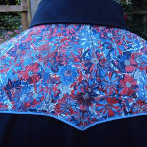 Shirt made for Darren Smith with yokes in Liberty 'Willow Rose'