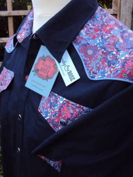 Shirt made for Darren Smith with yokes in Liberty London's 'Willow Rose' https://dandyandrose.com/2014/08/04/willows-and-roses/