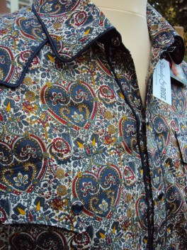 Shirt made for Danny George Wilson in 'Kitty Grace A' https://dandyandrose.com/2014/09/14/hearts-and-flowers/