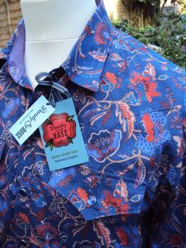 Shirt made for Jim Lauderdale in Liberty 'Poppyseed Dreams A' https://dandyandrose.com/2014/09/19/how-very-gram/