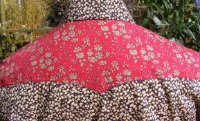 Shirt in Liberty's print 'Glenjade' with yokes in 'Capel' and collar stand in 'Marky'