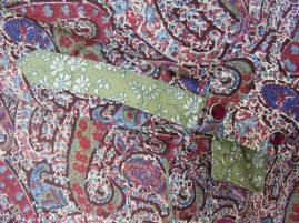 cuff detail Bourton/Capel mixed prints