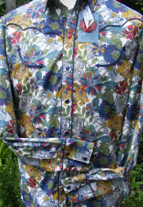 Shirt in Angelica Garla by Liberty for Danny Wilson. Front