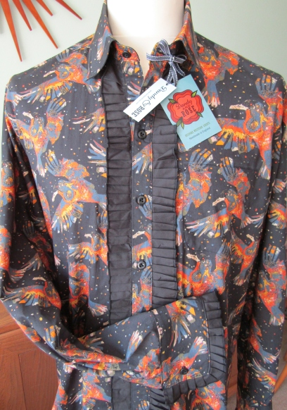Danny George Wilson's ruffled shirt in Liberty''s 'Storm'