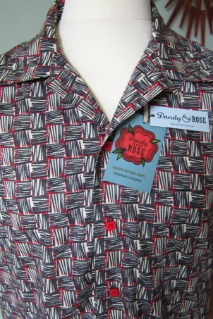 Danny George Wilson's 50s style shirt in Liberty London's print 'Strike'
