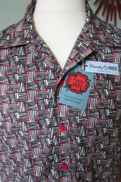 Danny George Wilson's 50s style shirt in Liberty London's print 'Strike'