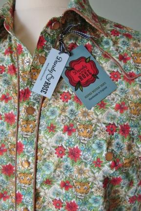 James' shirt in Liberty's Tiger print