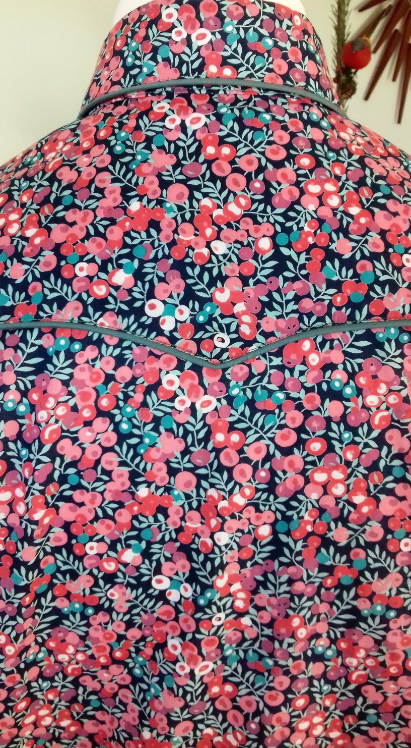 Jim Lauderdale's shirt in Liberty's 'Wiltshire Berry'