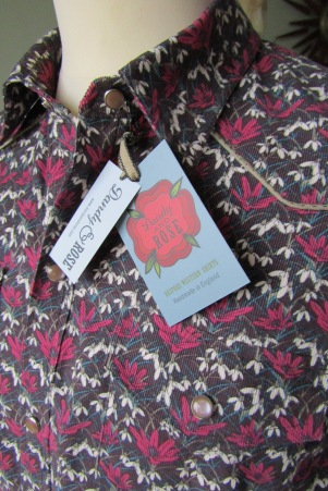 Jim Lauderdale's shirt in Liberty's cord snowdrop print