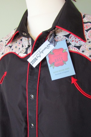 Andy's shirt in psychedelic paisley Liberty print