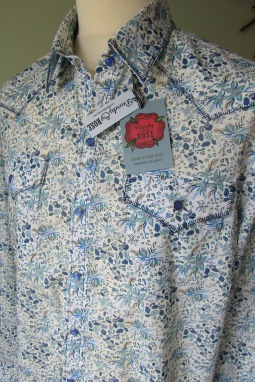 Michael's shirt in floral Liberty print