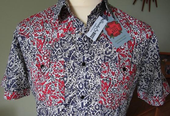 Bill's shirt in Liberty paisley print