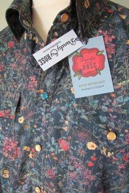 Jim Lauderdale's shirt in floral Liberty print