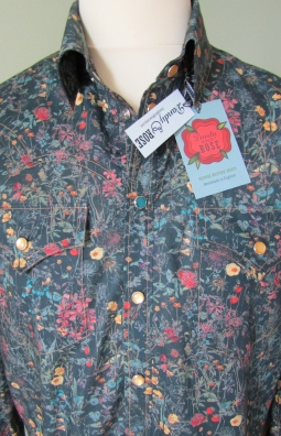 Jim Lauderdale's shirt in floral Liberty print