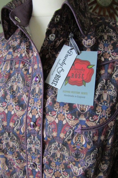 Woman's Dandy & Rose shirt in Liberty's 'Queen Bee' print