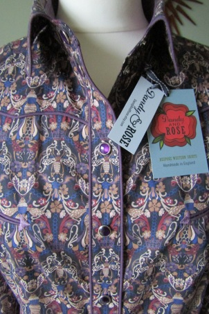 Woman's shirt in Liberty's 'Queen Bee' print